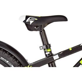 s'cool faXe 16 alloy Kids, black/lemon matt